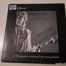 Disques de vinyle: CN BONI - PELIGROSO ANIMAL DE COMPAÑIA - GUITARRA BARRICADA ROCK DURO HEAVY. Lote 76789059