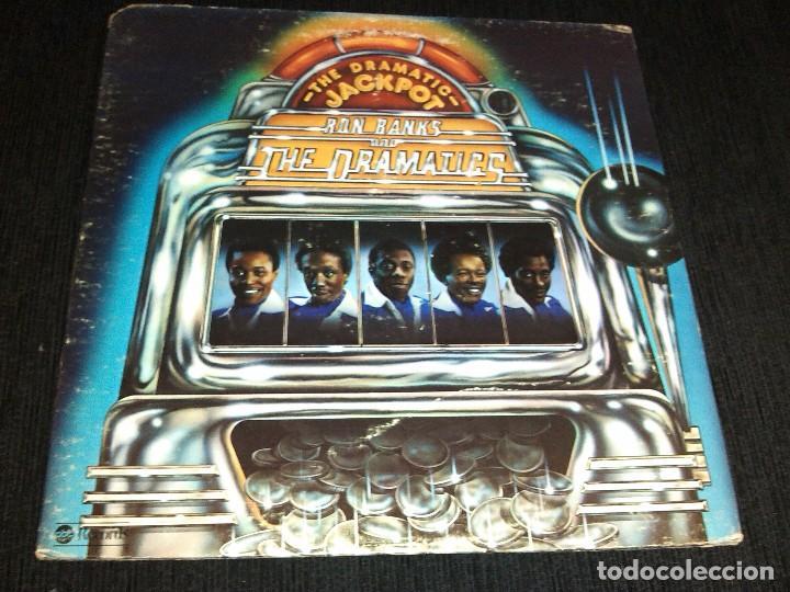 RON BANKS AND THE DRAMATICS – THE DRAMATIC JACKPOT - LP 1975 (Música - Discos - LP Vinilo - Funk, Soul y Black Music)