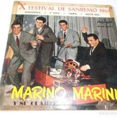 Discos de vinilo: MARINO MARINI Y SU CUARTETO X FESTIVAL DE SAN REMO - ED ESPAÑOLA COLUMBIA SAN SEBASTIAN. Lote 76796775