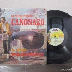 Discos de vinilo: MI NUEVO TUMBAO CAÑONAZO EL GRAN PACHECO CANTA PETE RODRIGUEZ FANIA VENEZUELA LP T88 VG. Lote 76805375