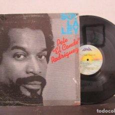 Discos de vinilo: SOY LA LEY PETE EL CONDE RODRIGUEZ SALSA FANIA 1979 VENEZUELA LP T88 VG. Lote 76807587
