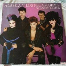 Discos de vinilo: ALASKA Y LOS PEGAMOIDES: GRANDES ÉXITOS (HISPAVOX 1986). Lote 76817987