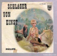 Discos de vinilo: SINGLE. SCHLAGER VON EINST. PHILIPS. Lote 76822955