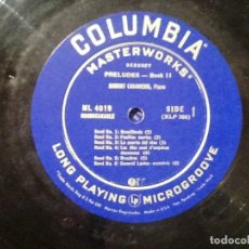 Discos de vinilo: OSCAR LEVANT PIANO LEVANT PLAYS DEBUSSY COLUMBIA ML 4277 . Lote 76825519