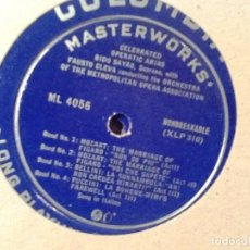Discos de vinilo: BIDU SAYAO CELEBRATED-OPERATIC ARIAS-VINYL-LP-COLUMBIA-ML-4056-FAUSTO-CLEV. Lote 76833407
