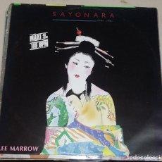 Discos de vinilo: LEE MARROW. SAYONARA. DON'T STOP. 1985. MEGA RECORDS. Lote 76836851