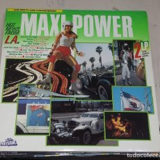 Discos de vinilo: LP DOBLE. MAXI POWER. HOT NEWS FROM L.A. POLYSTAR. 1987. Lote 76837271