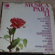 Discos de vinilo: LP. MUSICA PARA TI. LISZT, BACH/GOUNOD, SCHUMANN, DRIGO. HISPAVOX. . Lote 76840911