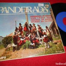 Discos de vinil: COROS CANTIGAS DA TERRA PANDEIRADA DE MAHIA/VAN TODAS VAN/FOLIADA DE MUXIA/MANEO DE CAYON EP GALIZA. Lote 76841547