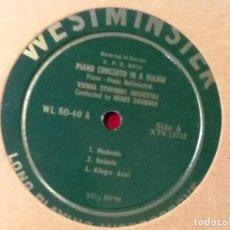Discos de vinilo: KPE BACH-PIANO CONCERTO WESTMINSTER WL-50-40 LP-HOLLETSCHEK . Lote 76849855