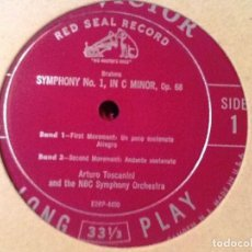 Discos de vinilo: TOSCANINI - BRAHMS SYMPHONY NO. 1 RCA VICTOR LM 1702 . Lote 76851563