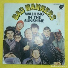 Discos de vinilo: BAD MANNERS WALKING IN THE SUNSHINE SINGLE VINILO SKA REGGAE SKINHEAD. Lote 76852339
