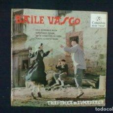 Discos de vinilo: BAILE VASCO TRIKI-TRIXA DE ZUMARRAGA KALE BARRENDIK ASITA. Lote 76872547