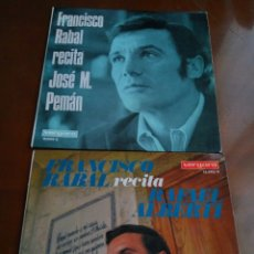 Discos de vinilo: LOTE 2 VINILOS 33 RPM FRANCISCO RABAL. Lote 76882798