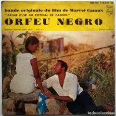 Discos de vinilo: ORFEU NEGRO (BSO). FELICIDADE/ O NOSSO AMOR/ MANHA DE CARNAVAL/ SAMBA DE ORFEU PILIPS 1959 FRANCE EP. Lote 76903167
