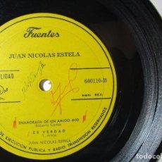 Discos de vinilo: JUAN NICOLAS ESTELA ROBERTO CARLOS FUENTES COLOMBIA 33RPM MAXI SINGLES S46 G. Lote 76909087
