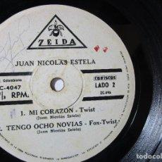 Discos de vinilo: JUAN NICOLAS ESTELA TWIST ROCK FOX 33RPM MAXI SINGLES S46 G RARO ESCASO. Lote 76909571