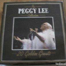 Discos de vinilo: PEGGY LEE - THE COLLECTION - 20 GOLDEN GREATS - LP DEJA VU ITALIA. Lote 76945609