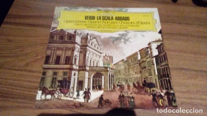 GIUSEPPE VERDI - LA SCALA - ABBADO . COROS DE OPERA (Música - Discos - LP Vinilo - Clásica, Ópera, Zarzuela y Marchas)