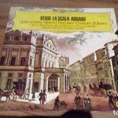 Discos de vinilo: GIUSEPPE VERDI - LA SCALA - ABBADO . COROS DE OPERA. Lote 76946753