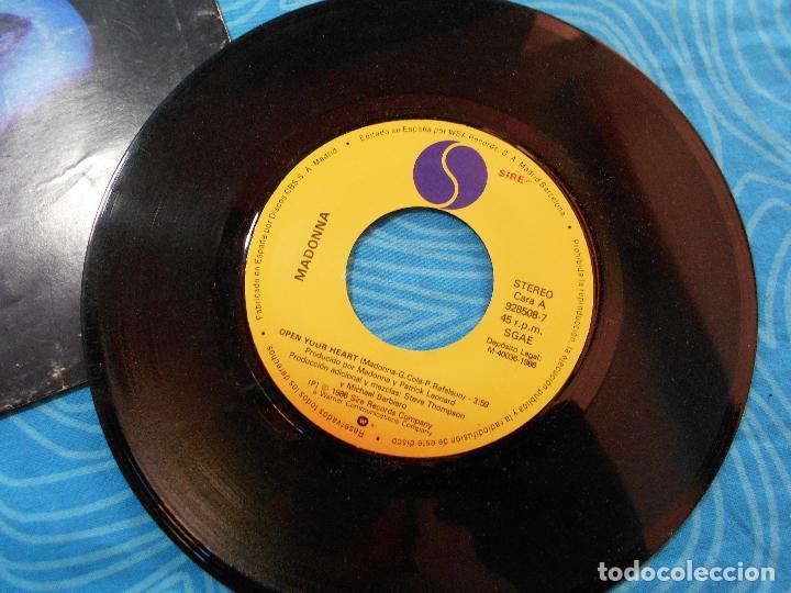 Discos de vinilo: MADONNA SINGLE VINILO OPEN YOUR HEART (WEA RECORDS 1986) - Foto 4 - 76956665