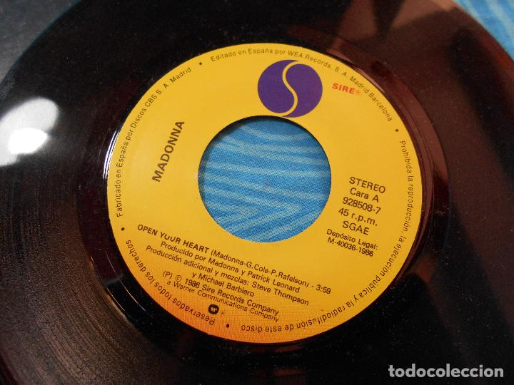 Discos de vinilo: MADONNA SINGLE VINILO OPEN YOUR HEART (WEA RECORDS 1986) - Foto 5 - 76956665