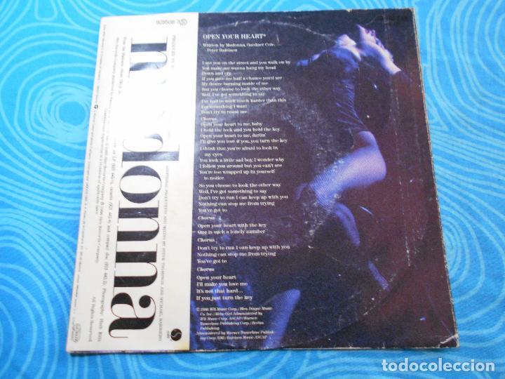 Discos de vinilo: MADONNA SINGLE VINILO OPEN YOUR HEART (WEA RECORDS 1986) - Foto 7 - 76956665