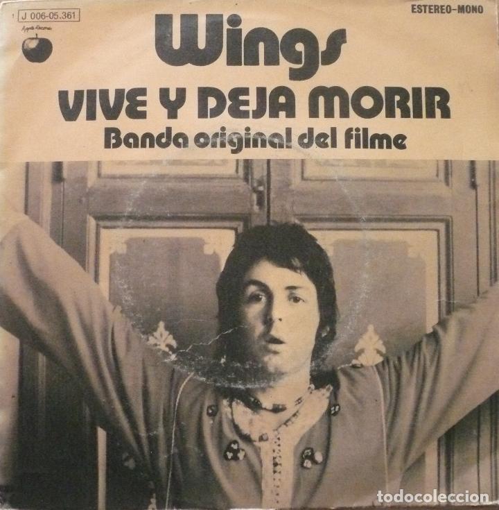 PAUL MC CARTNEY - WINGS / VIVE Y DEJA MORIR / SINGLE (Música - Discos - Singles Vinilo - Otros estilos)