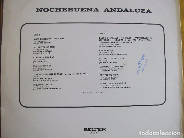Discos de vinilo: LP - NOCHEBUENA ANDALUZA - VARIOS (VILLANCICOS) (SPAIN, BELTER 1973) - Foto 2 - 77012341
