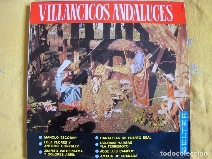 LP - VILLANCICOS ANDALUCES - VARIOS (SPAIN, BELTER 1966) (Música - Discos - LP Vinilo - Flamenco, Canción española y Cuplé)