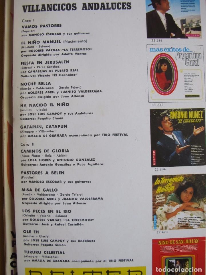Discos de vinilo: LP - VILLANCICOS ANDALUCES - VARIOS (SPAIN, BELTER 1966) - Foto 2 - 77053933