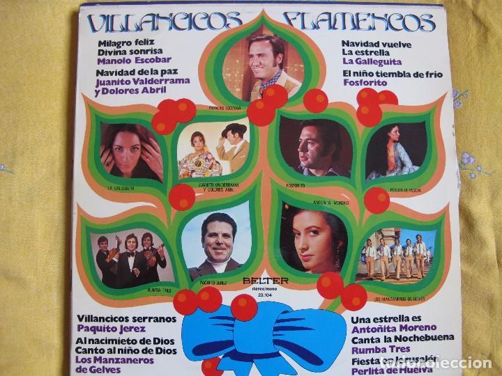 LP - VILLANCICOS FLAMENCOS - VARIOS (SPAIN, BELTER 1975) (Música - Discos - LP Vinilo - Flamenco, Canción española y Cuplé)