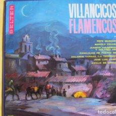 Discos de vinilo: LP - VILLANCICOS FLAMENCOS - VARIOS (SPAIN, BELTER 1964). Lote 77056845