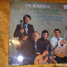 Discos de vinilo: THE ROMEROS. PLAY CLASSICAL MUSIC FOR FOUR GUITARS. PHILIPS 1977. EDICION INGLESA. IMPECABLE. Lote 77085233