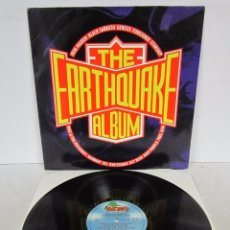 Discos de vinilo: THE EARTHQUAKE ALBUM / ROCK AID ARMENIA - LP - RUSH / RAINBOW / BLACK SABBATH / YES / IRON MAIDEN. Lote 77106889