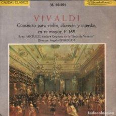 Disques de vinyle: VIVALDI CONCIERTO PARA VIOLIN , CLAVECIN Y CUERDAS , EN RE MAYOR , P. 165 EP DE 1965 RF-1802. Lote 77122897
