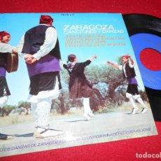Discos de vinilo: ZARAGOZA CANCIONES Y DANZAS JOTA DE ANDORRA/JOTA PICADA DE ZARAGOZA/BOLEROS DE CASPE/+1 EP 1966. Lote 77133837