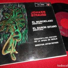 Discos de vinilo: ORQUESTA BERLIN IDR. ARTUR ROTHER JOHANN STRAUSS EL MURCIELAGO/EL BARON GITANO EP 1962 TELEFUNKEN. Lote 77135525