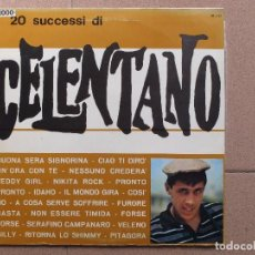 Discos de vinilo: ADRIANO CELENTANO (CON L'ORCHESTRA DI GIULIO LIBANO) - 20 SUCCESSI - LP. Lote 77146901