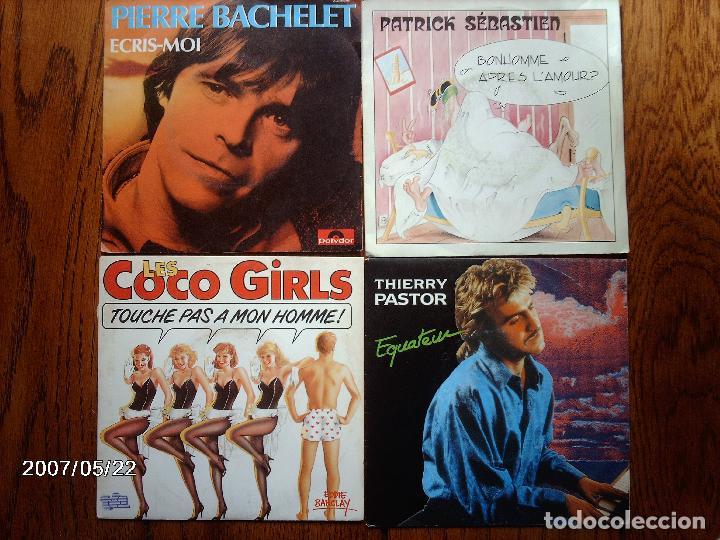 LOTE 20 DISCOS SINGLES VARIOS ESTILOS MAYORIA MUSICA FRANCESA - GOLDMAN, LES COCO-GIRLS , LAFORET, (Música - Discos de Vinilo - Singles - Pop - Rock Extranjero de los 80)