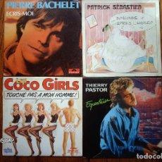 Discos de vinilo: LOTE 20 DISCOS SINGLES VARIOS ESTILOS MAYORIA MUSICA FRANCESA - GOLDMAN, LES COCO-GIRLS , LAFORET,. Lote 77215857