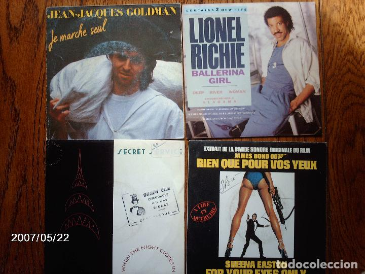 Discos de vinilo: lote 20 discos singles varios estilos mayoria musica francesa - goldman, les coco-girls , laforet, - Foto 2 - 77215857