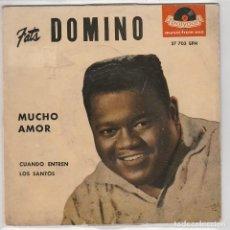 Discos de vinilo: FATS DOMINO / MUCHO AMOR / COQUETA / CONTANDO MENTIRAS + 1 (EP 1959). Lote 77222225