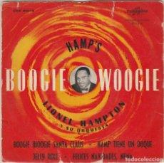 Discos de vinilo: LIONEL HAMPTON / BOOGIE WOOGIE SANTA CLAUS + 3 (EP 1958). Lote 77247805