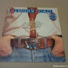 Discos de vinilo: VARIOS - KINGS OF THE ROAD. GRANDES CLÁSICOS DEL COUNTRY (LP 1991, SONY MUSIC COL 468094 1). Lote 77250981