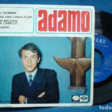 Discos de vinilo: - ADAMO - TU NOMBRE + 3 - EMI 1966. Lote 77258981