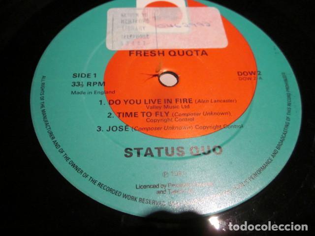 Discos de vinilo: STATUS QUO - FRESH QUOTA - 10 PULGADAS - EDICION UK DEL AÑO 1981. - Foto 3 - 77270377