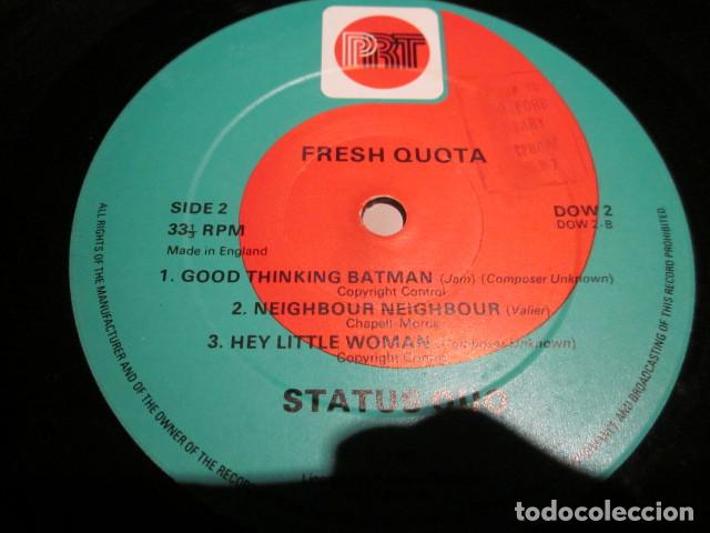 Discos de vinilo: STATUS QUO - FRESH QUOTA - 10 PULGADAS - EDICION UK DEL AÑO 1981. - Foto 4 - 77270377