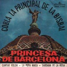 Discos de vinilo: COBLA LA PRINCIPAL DE LA BISBAL ....EP DE 1960 RF-1806 , BUEN ESTADO. Lote 77283305