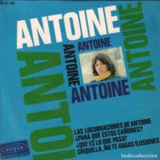 Disques de vinyle: ANTOINE / LAS LUCUBRACIONES DE ANTOINE / ¿PARA QUE ESTOS CAÑONES? ...EP DE 1966 RF-1812. Lote 77283933